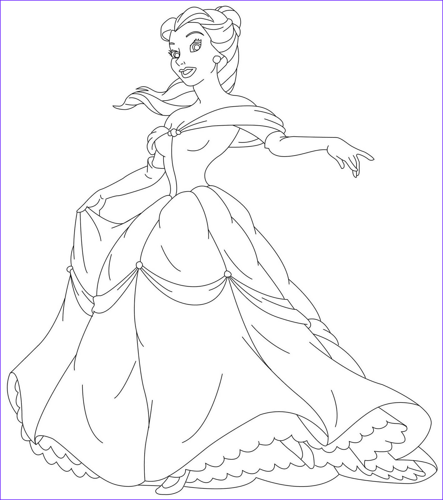 Princess Coloring Pages to Print Beautiful Image Free Printable Disney Princess Coloring Pages for Kids
