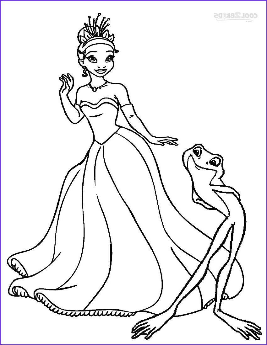Princess Coloring Pages to Print Inspirational Gallery Printable Princess Tiana Coloring Pages for Kids