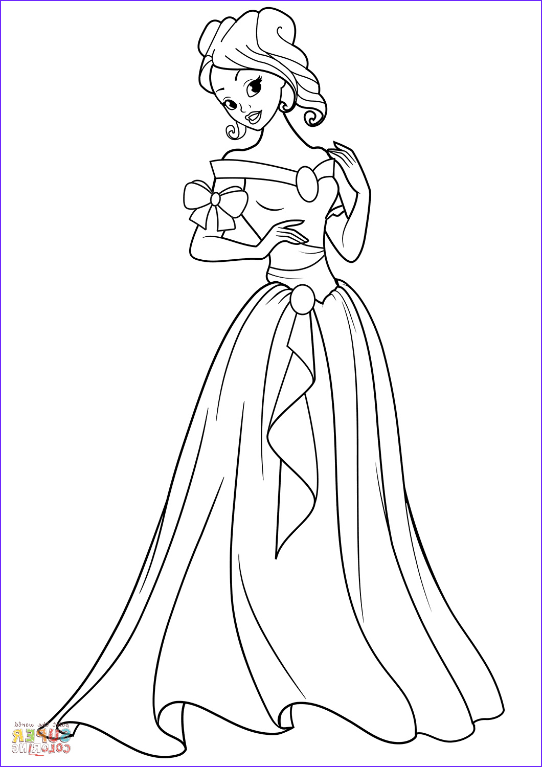 Princess Coloring Pages to Print Inspirational Images Beautiful Princess Coloring Page