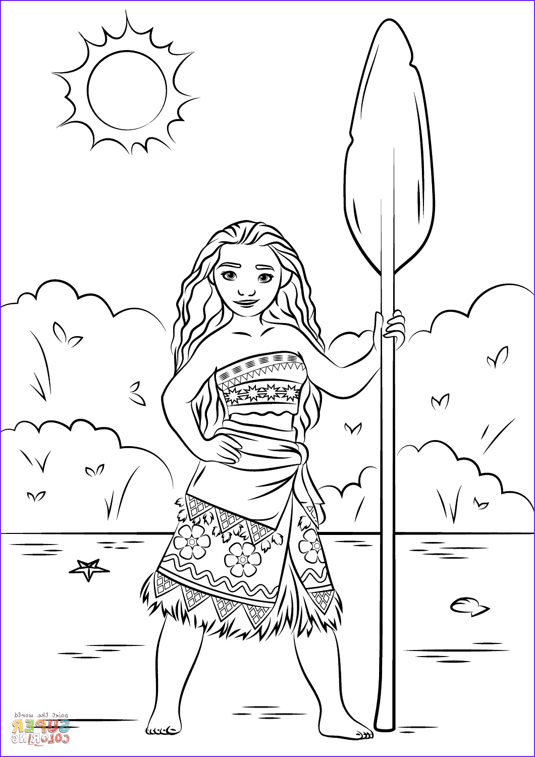 Princess Coloring Pages to Print New Photography Princess Moana Coloring Page