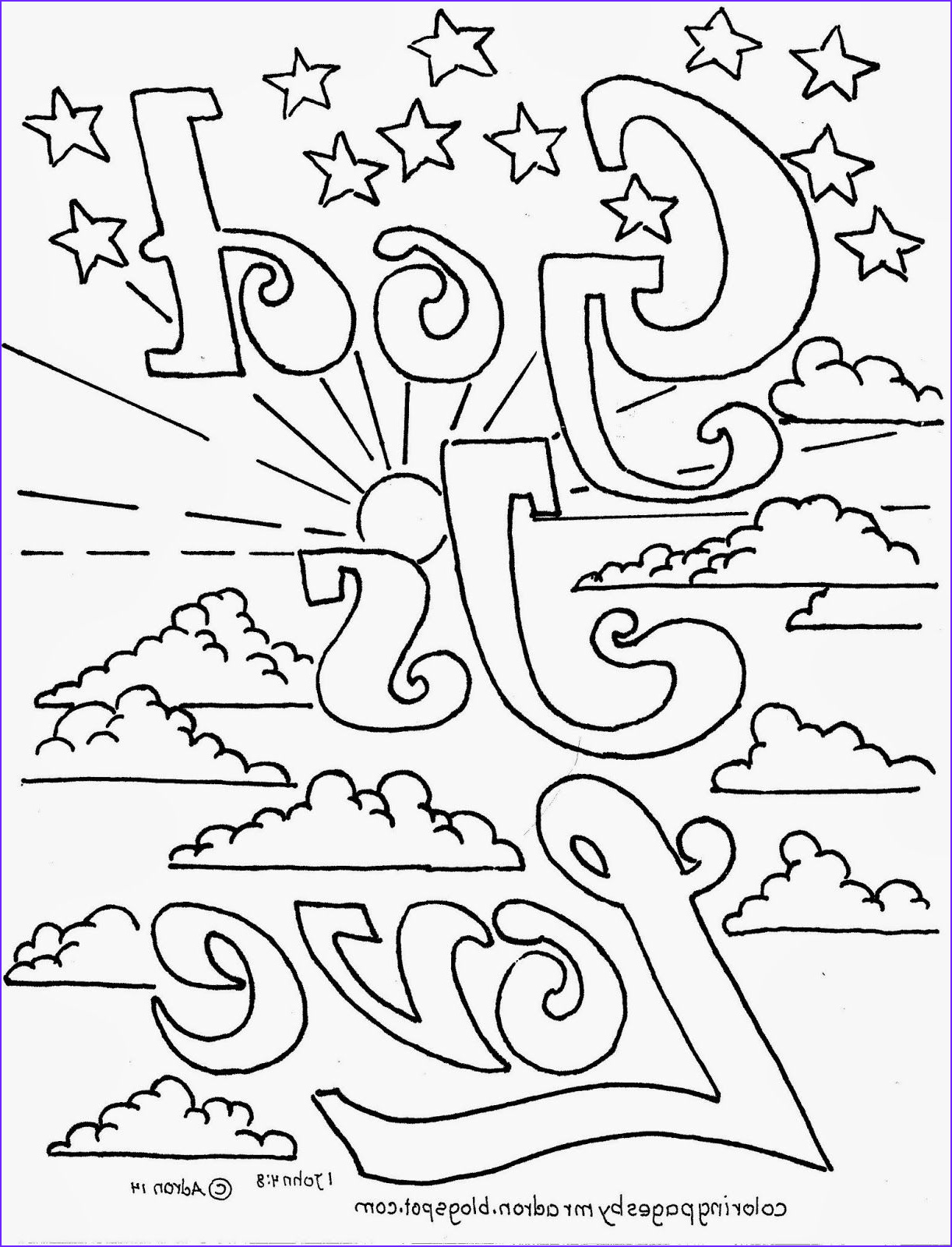 Printable Bible Coloring Pages New Images Coloring Pages For Kids By Mr Adron God Is Love