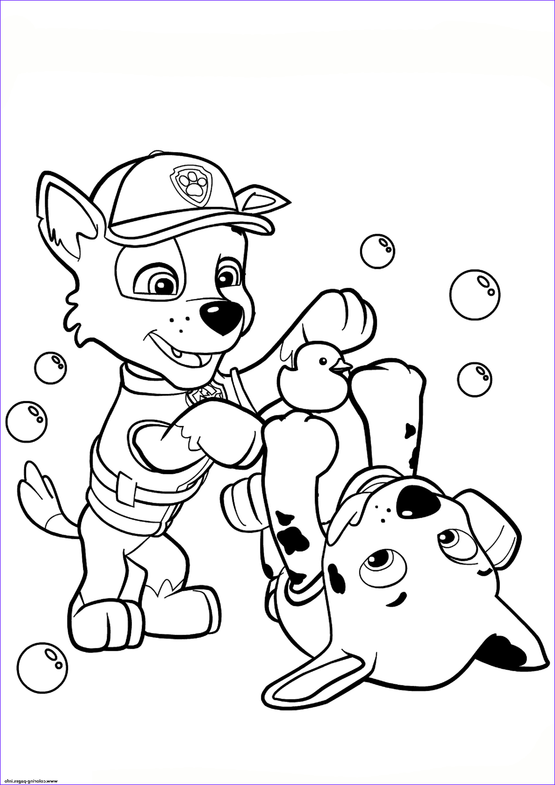paw patrol rocky and marshall printable coloring pages book