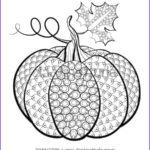 Pumpkin Coloring Pages For Adults New Photos Coloriage Adulte Halloween Citrouille 3 Jeffersonclan