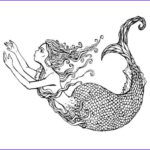 Realistic Mermaid Coloring Pages Awesome Gallery Mermaid Coloring Pages And Books For Adults And Children