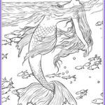 Realistic Mermaid Coloring Pages Luxury Gallery Best Mermaid Coloring Pages & Coloring Books Cleverpedia