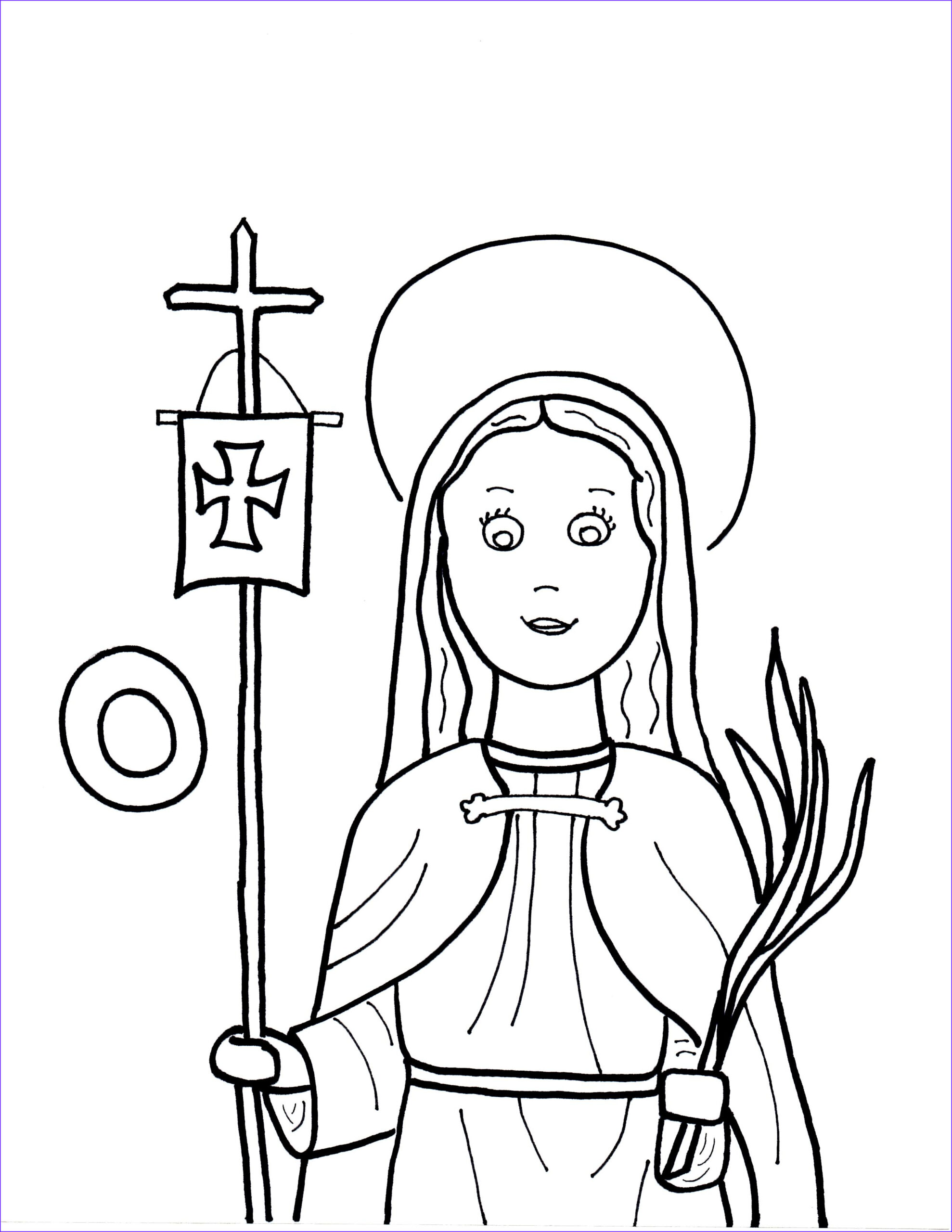Saint Coloring Pages Cool Photography O is for St Odilia