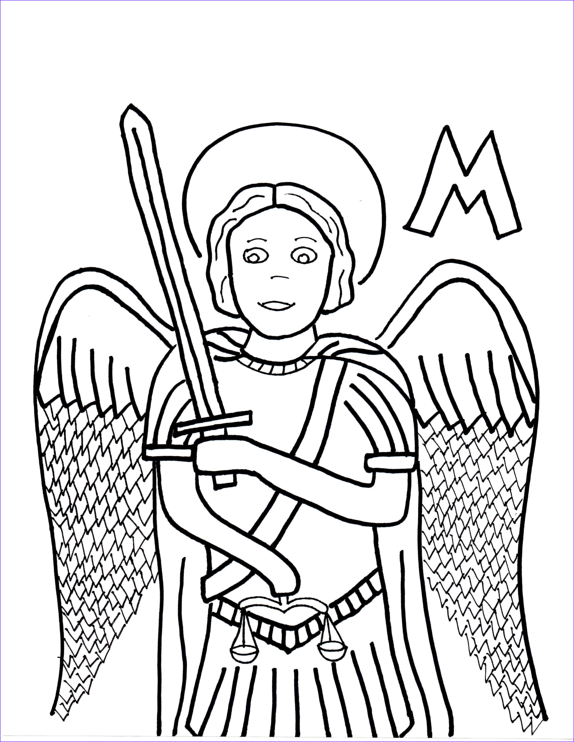 Saint Coloring Pages Cool Stock M is for St Michael the Archangel