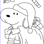 Snoopy Christmas Coloring Pages Beautiful Photos Snoopy Dressed As Santa Coloring Page Free Christmas