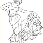 Spanish Coloring Books Unique Stock Spanish Dancer Coloring Page