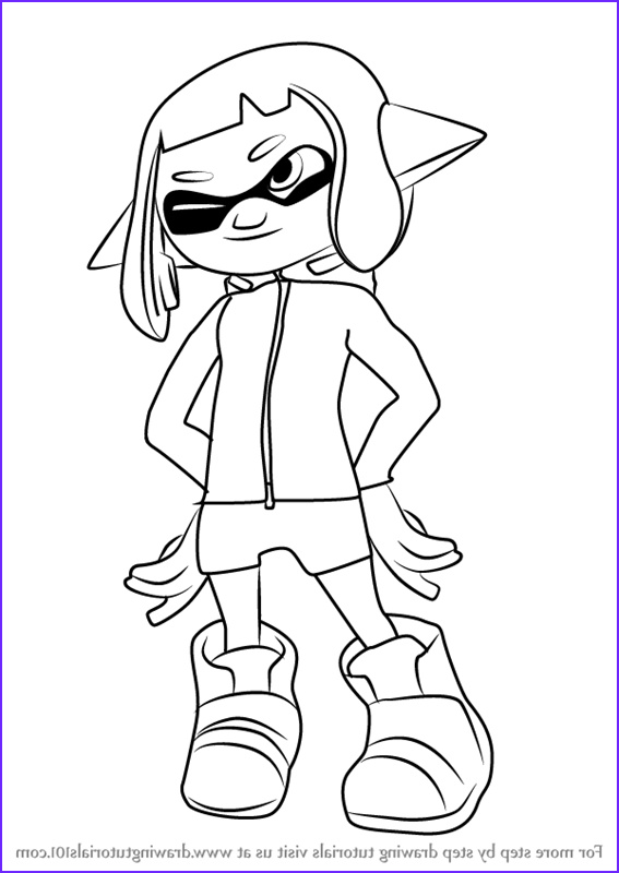 how to draw agent 4 from splatoon 2 step by step
