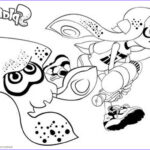 Splatoon Coloring Pages Luxury Photos Splatoon Coloring Pages Inkling Girl And Squid Running
