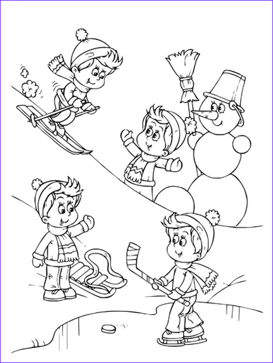 Sports graph Coloring Pages Kids Winter Sports