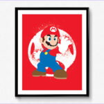 Super Tube Coloring Poster Best Of Images Super Smash Bros Mario Spray Art Poster Video Game Print