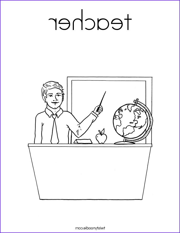 teacher 104 coloring page