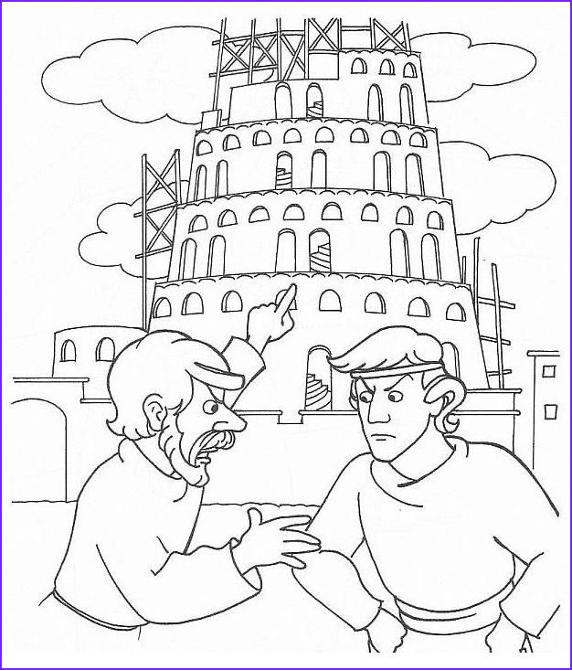 Tower Of Babel Coloring Page New Stock 33 Best Images About Coloring Bible Ot Genesis On