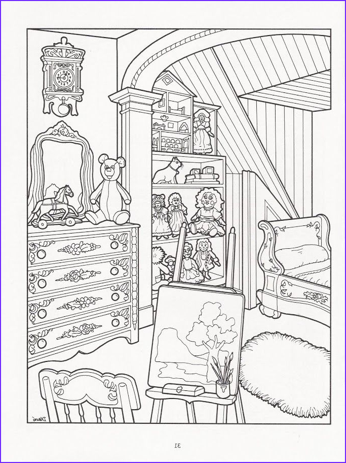 Artwork by Daniel Lewis The Victorian House Coloring Book