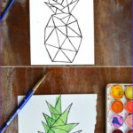 Water Coloring Painting Luxury Images Love Of Watercoloring And Free Geometric Pineapple Print