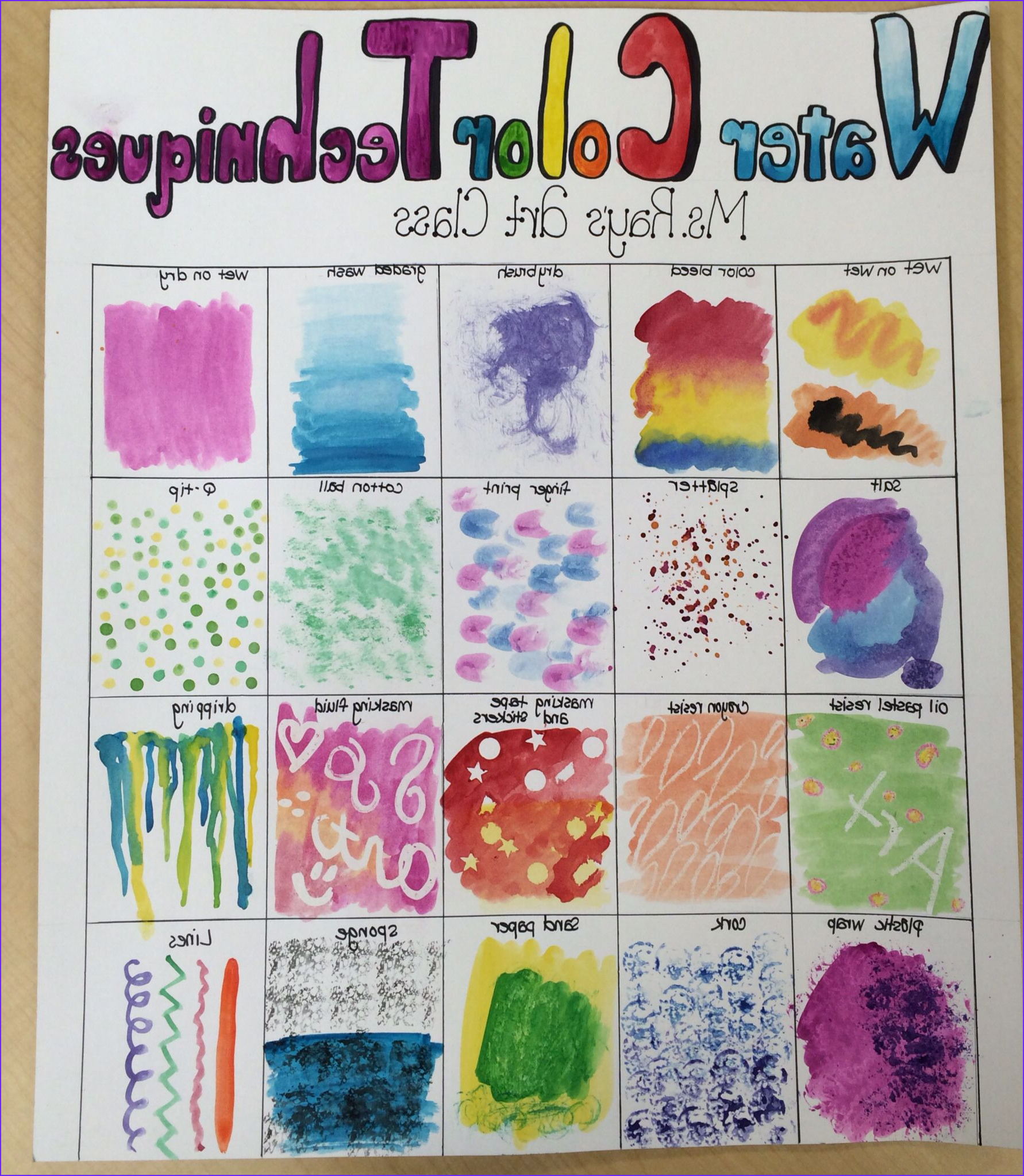Water Coloring Painting Unique Collection Water Color Techniques Poster