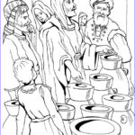 Water Coloring Picture Inspirational Collection Jesus Turns Water Into Wine Coloring Pages Coloring Home