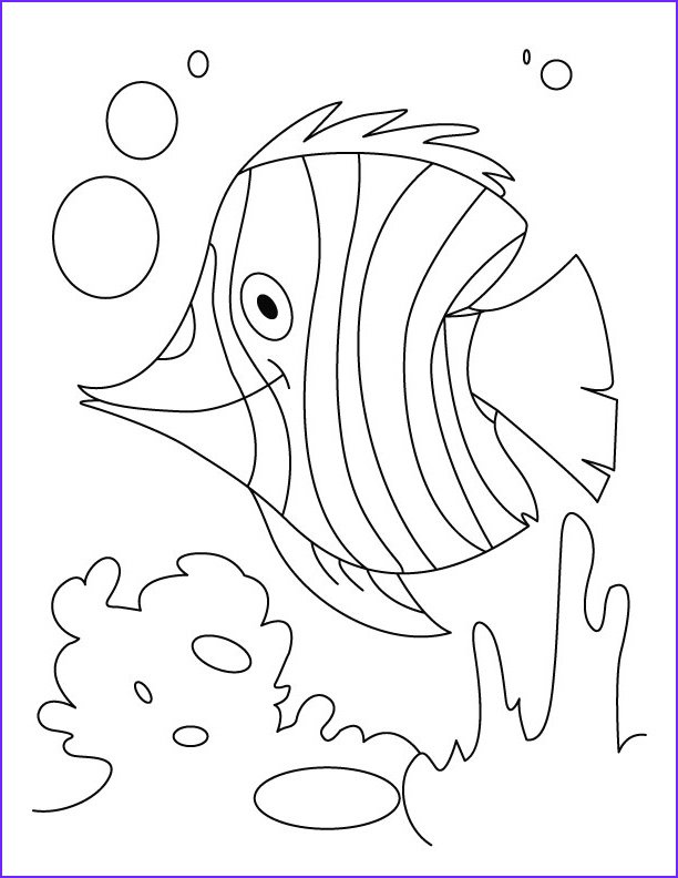 fish flutter in water coloring pages 1d1622