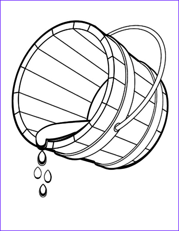 bucket spilling water coloring pages 2