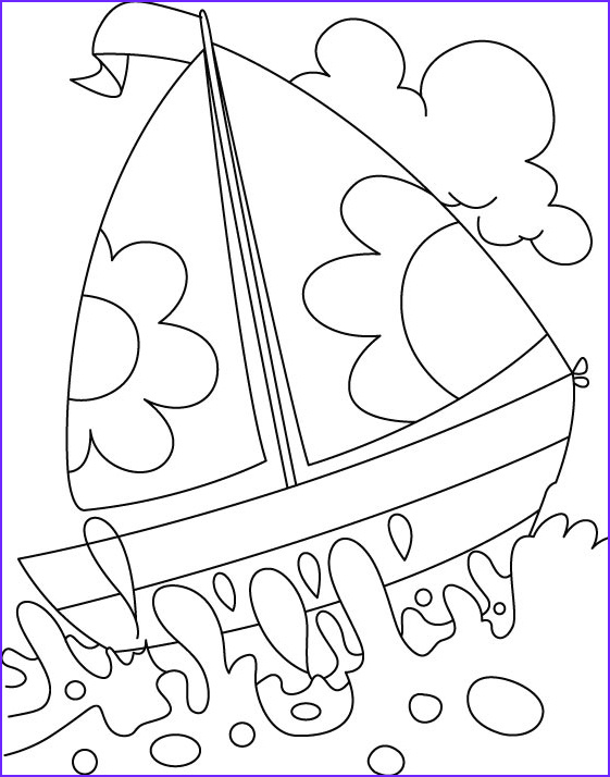 a boat in deep water coloring page 1d1069