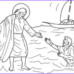 Water Coloring Pictures New Gallery Jesus Walks On Water Coloring Page