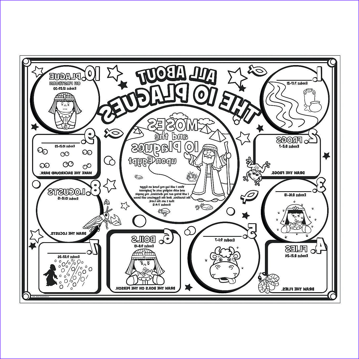 10 Plagues Of Egypt Coloring Pages Awesome Gallery Plagues Coloring Page