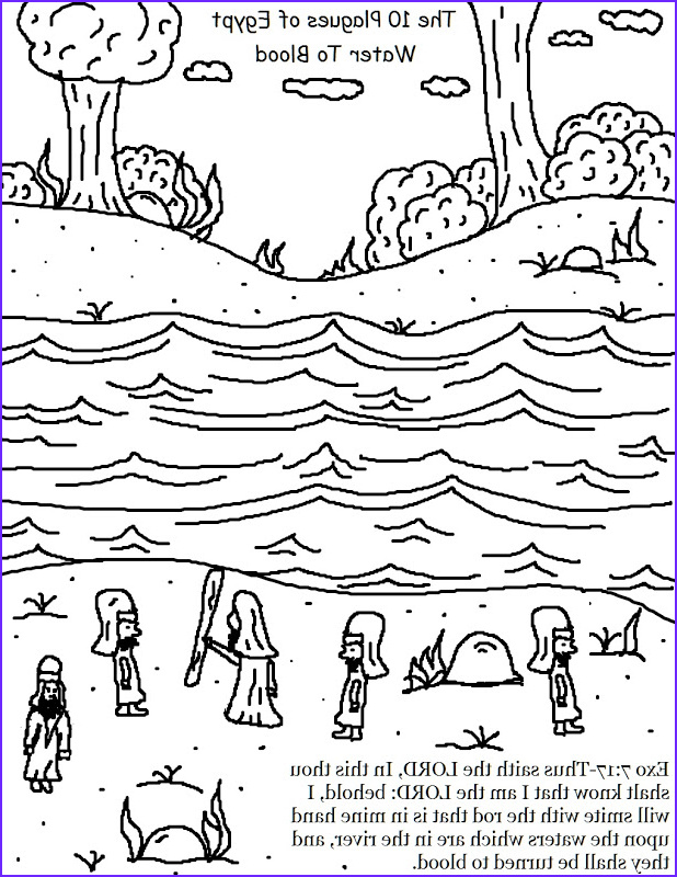coloring pages for ten plagues
