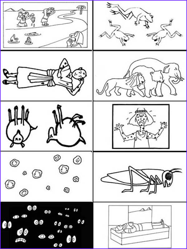 the picture of 10 plagues of egypt coloring page