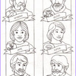 12 Disciples Coloring Page Beautiful Photos 12 Disciples Pic With Names & Shields Could These Be E