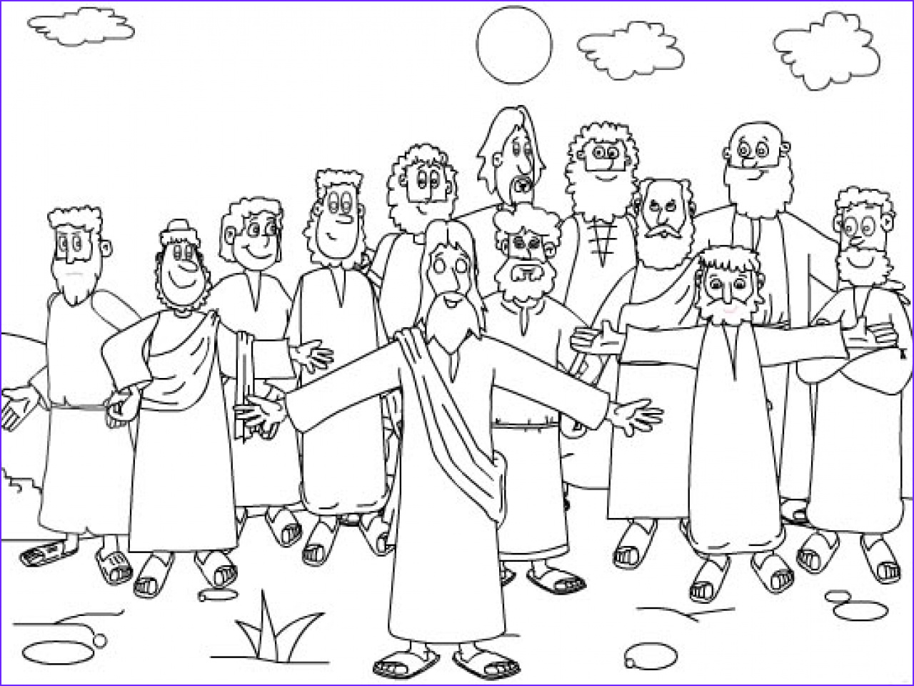 12 Disciples Coloring Page Cool Images Twelve Disciples Coloring Page Coloring Home