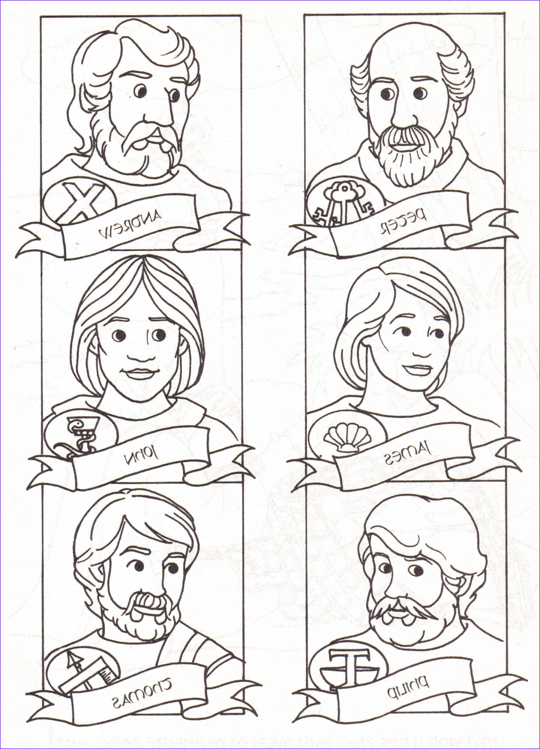 12 Disciples Coloring Page Inspirational Images 12 Disciples Coloring Page Download