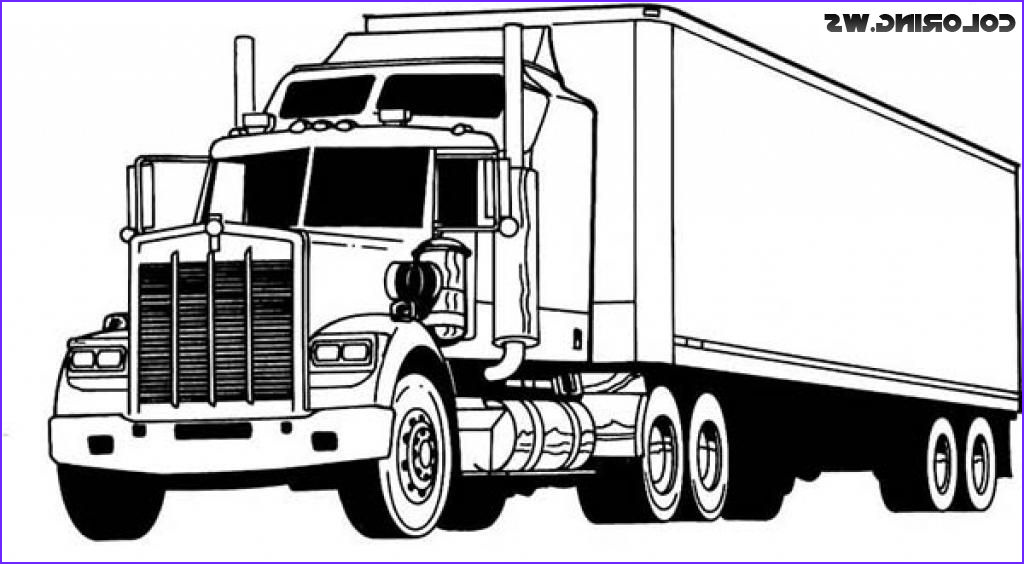 18 Wheeler Coloring Pages Luxury Photos Pin On Truck Coloring Pages