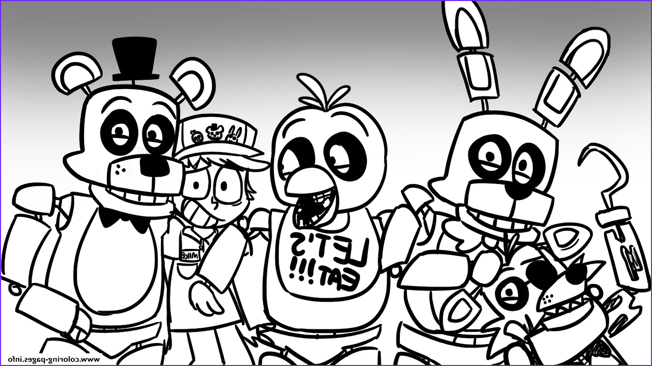 5 Nights at Freddy's Coloring Pages Inspirational Photos Print Freddy S at Five Nights Fnaf Lets Eat Coloring Pages