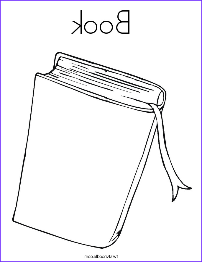 open book colouring pages