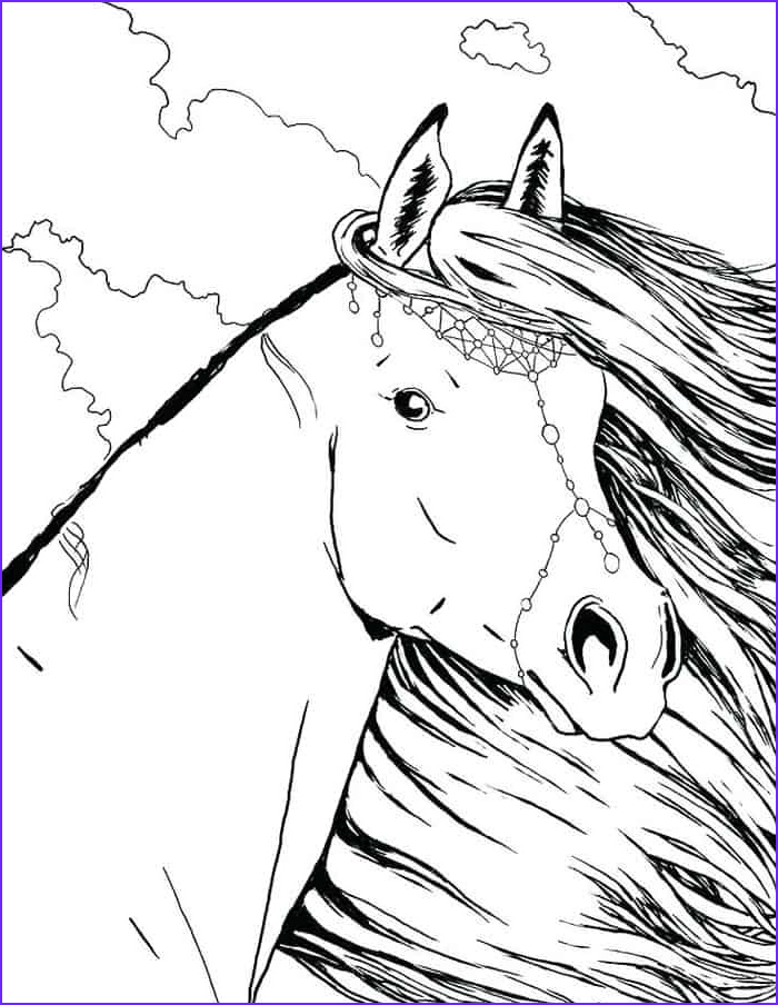 beautiful coloring horse pages