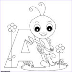 Abc Coloring Pages Cool Photos Printable Animal Alphabet Worksheets Letter A For Ant