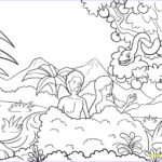 Adam and Eve Coloring Page Beautiful Gallery Garden Eden Drawing at Getdrawings