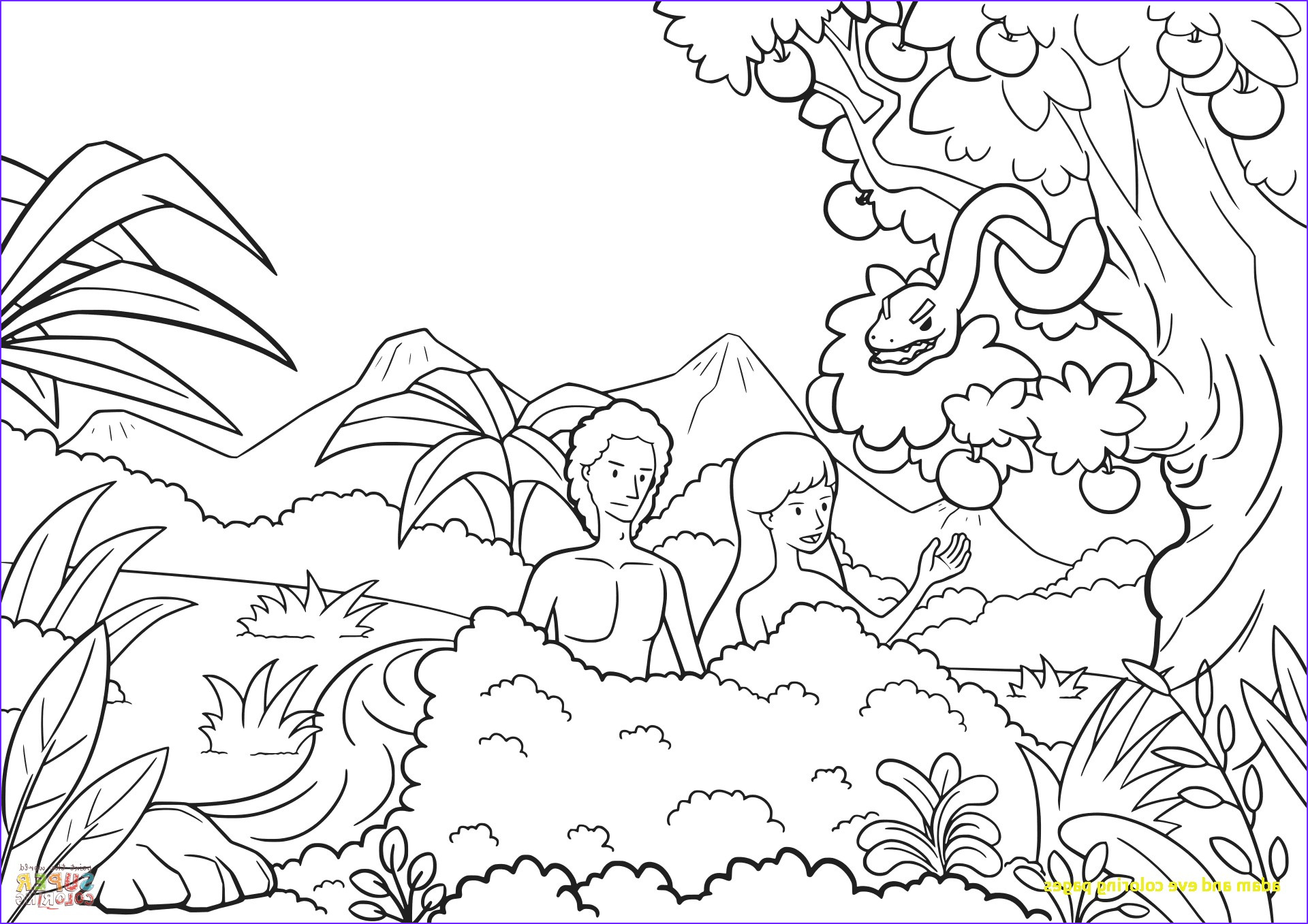 12 Luxury Adam and Eve Coloring Page Photography