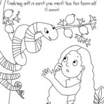 Adam And Eve Coloring Pages Awesome Image Adam And Eve And The Sneaky Snake Color Page From Cullen S