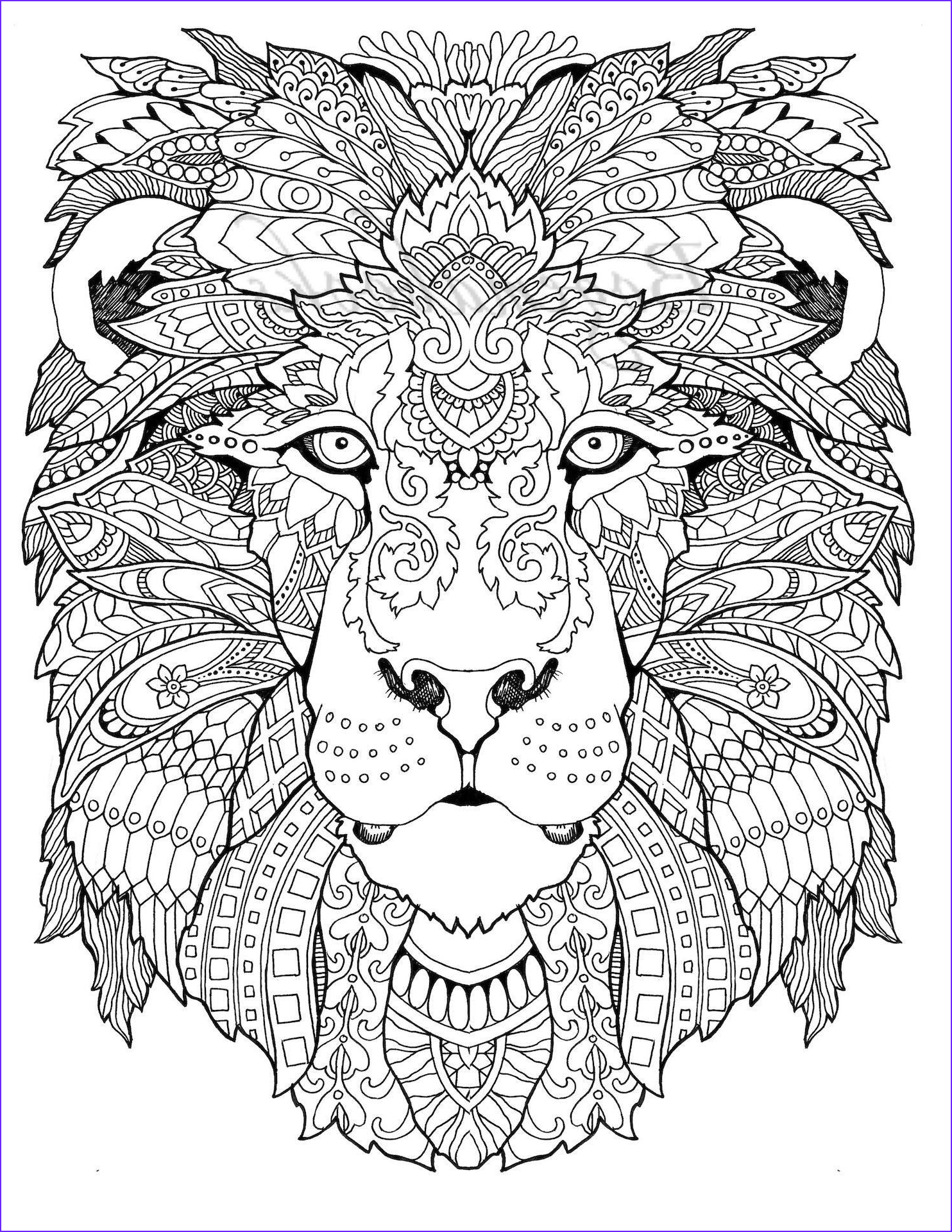 Adult Animal Coloring Book Best Of Collection Awesome Animals Adult Coloring Pages Coloring Pages
