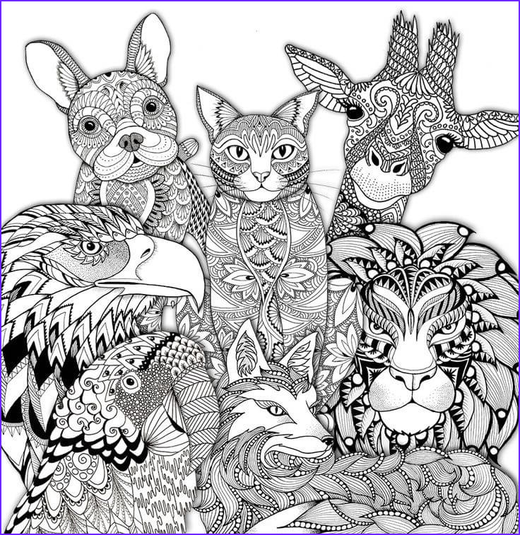 Adult Animal Coloring Book New Images 150 Latest Adult Coloring Pages Free Download