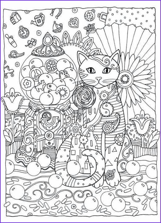 Adult Cat Coloring Pages Awesome Photos Creative Cats Coloring Book by Marjorie Sarnat Dover