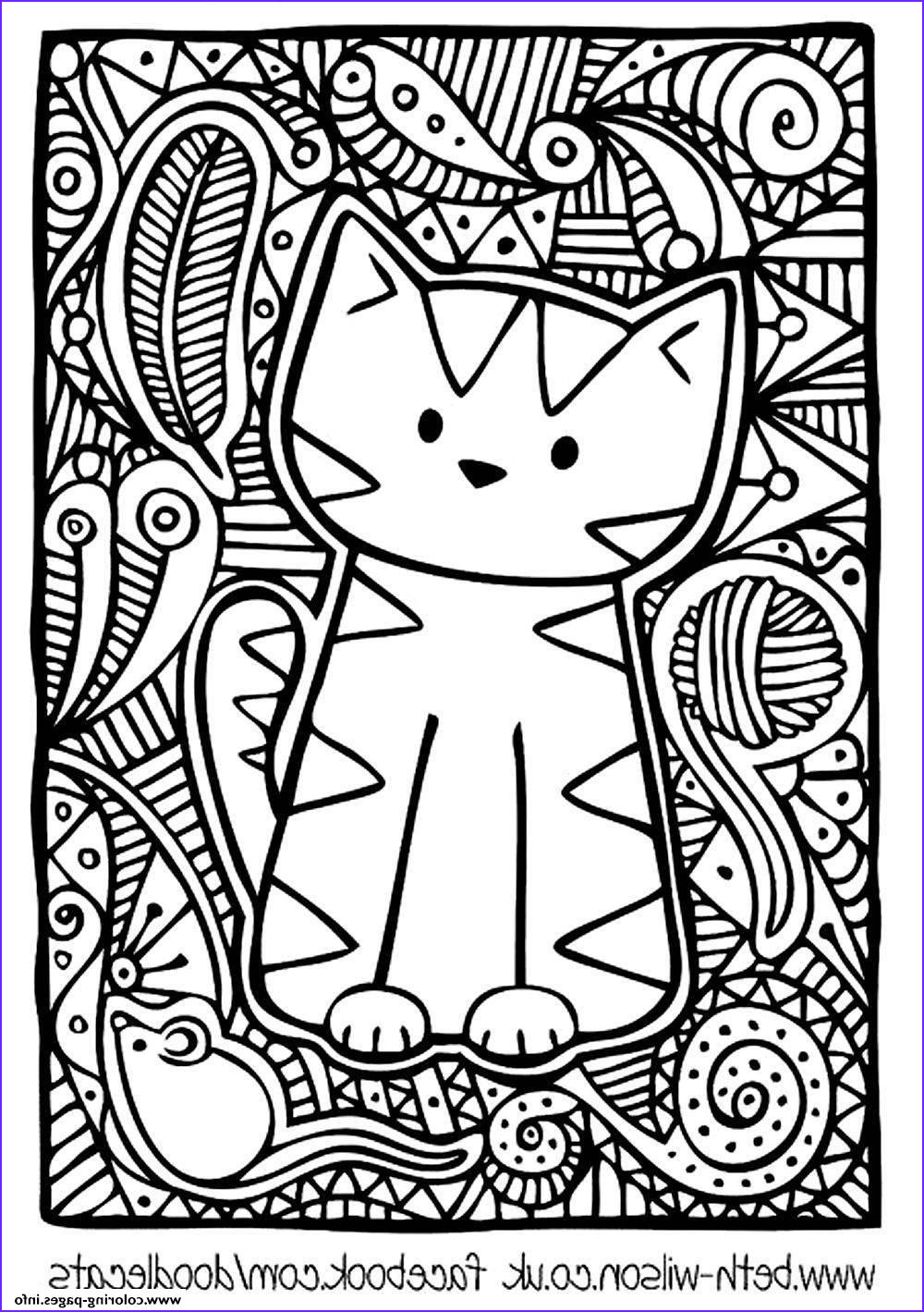 Adult Cat Coloring Pages Awesome Stock Adult Difficult Cute Cat Coloring Pages Printable
