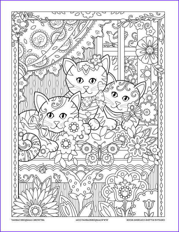 Adult Cat Coloring Pages Awesome Stock Window Box Creative Kittens Coloring Book by Marjorie