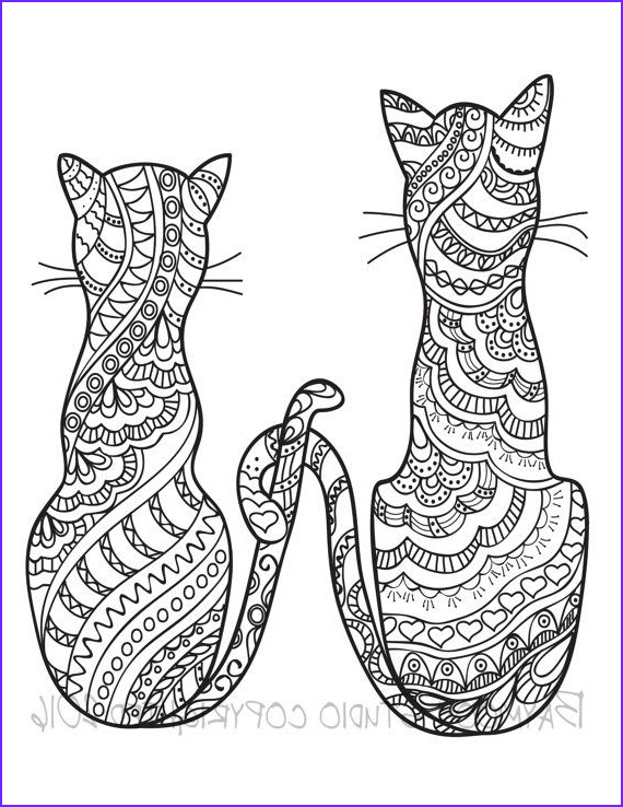 Adult Cat Coloring Pages Cool Images 630 Best Adult Colouring Cats Dogs Zentangles Images On