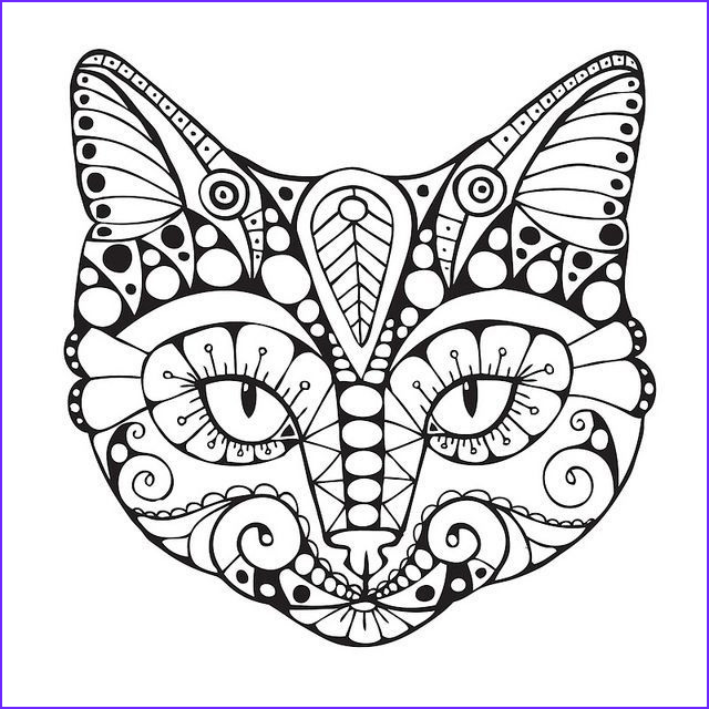 Adult Cat Coloring Pages Elegant Photos Cat Coloring Pages for Adults
