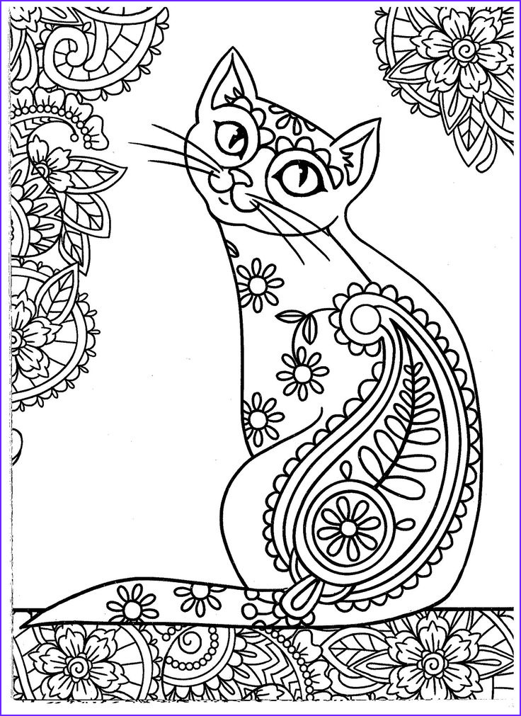 Adult Cat Coloring Pages New Photos 627 Best Images About Adult Colouring Cats Dogs