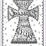 Adult Christian Coloring Pages Cool Collection Coloring Book Of Crosses Christian Art To Color And Create